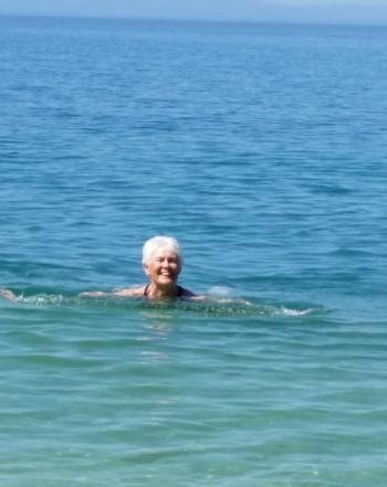 ...och efter det ett dopp i det kristallklara Adriatiska havet :)