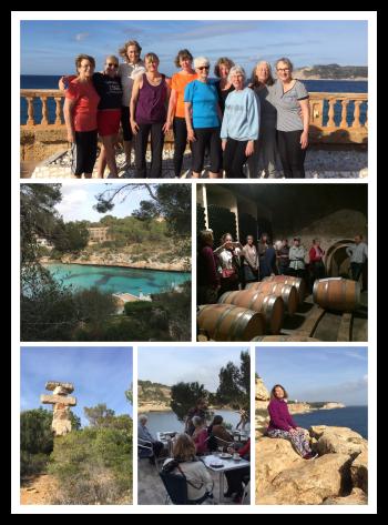 Collage från mandelblommornas Mallorca.