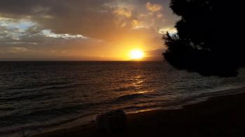 Solnedgång över Adriatiska havet.